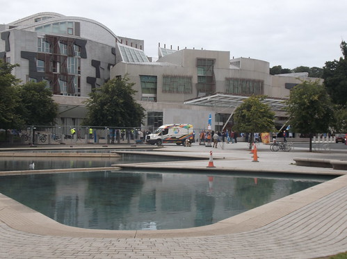 the Scottish Parliament - Holyrood.