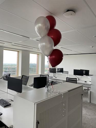 Tafeldecoratie 5ballonnen Fagron Rotterdam