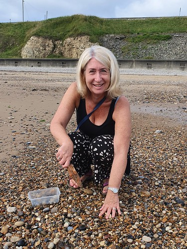 """Jayne collecting sea glass at Seaham beach • <a style=""""font-size:0.8em;"""" href=""""http://www.flickr.com/photos/95373130@N08/51418311153/"""" target=""""_blank"""">View on Flickr</a>"""
