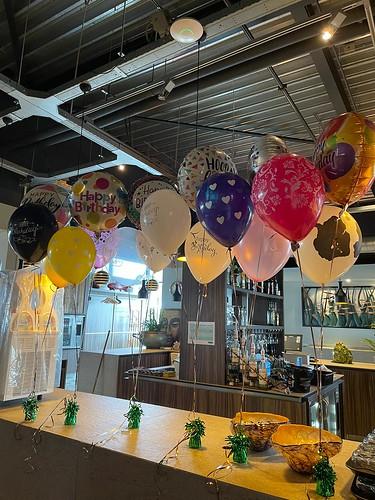 Tafeldecoratie 3ballonnen Folieballonnen Verjaardag Watertuin Spijkenisse