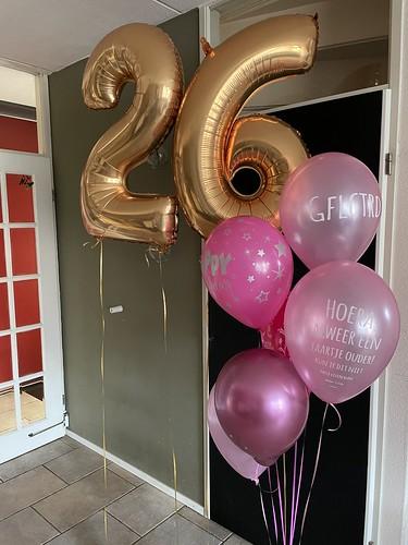 Ballonboeket Verjaardag 26 Jaar