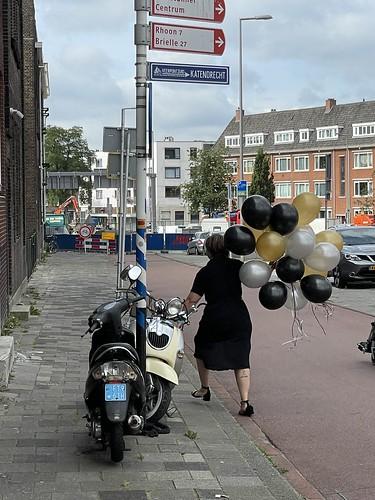 Heliumballonnen Maastunnenplein Rotterdam