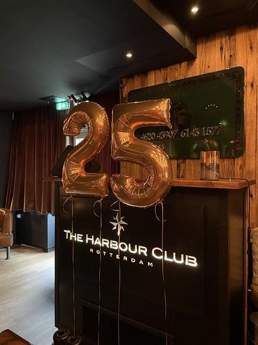 Folieballon Cijfer 25 Verjaardag The Harbour Club Rotterdam