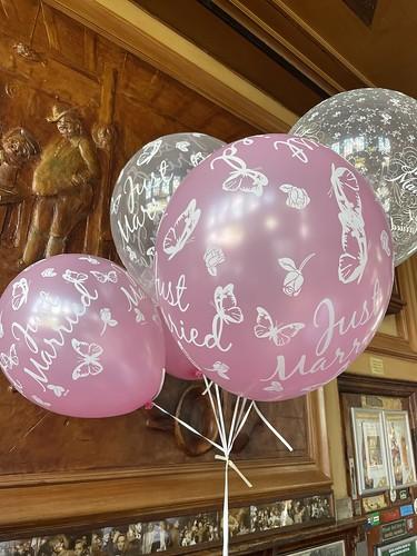 Heliumballonnen 16 inch Just Married Huwelijk Cafe de Oude Sluis Rotterdam