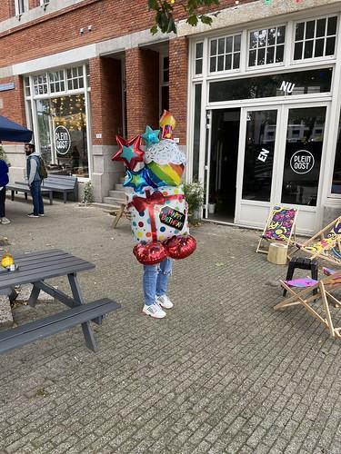 Folieballon Verjaardagstaart Restaurant Plein Oost Rotterdam