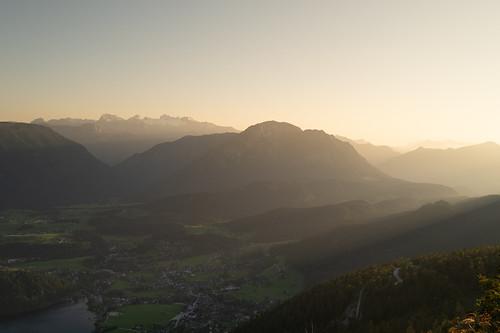 Sundown over Mount Dachstein