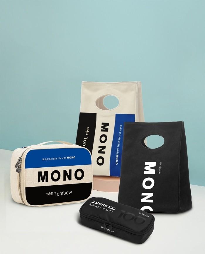 圖一:Tombow特別推出放大版橡皮擦造型帆布收納袋與帆布手提袋|誠品書店