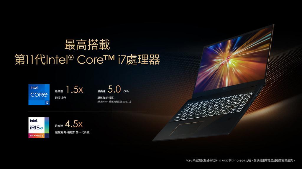 03_Summit E16 Flip採用最新第11代Intel® Core™ i7處理器和Intel® Iris® Xe顯示晶片