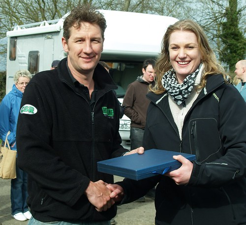 Class B winner at Combe Nev Simpson with Christina Holley