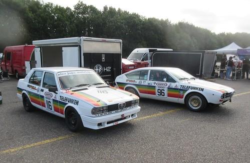 Horsfield team's Giulietta 116 and Alfetta GTV