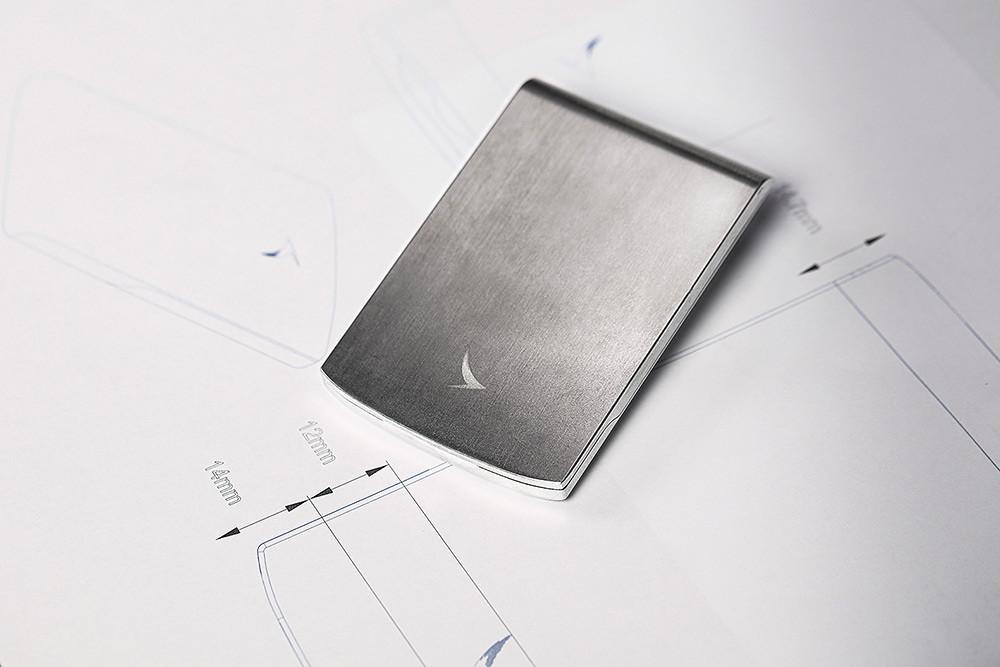 波音747-400-客機回收鋁材金屬筆和卡片盒套裝-10