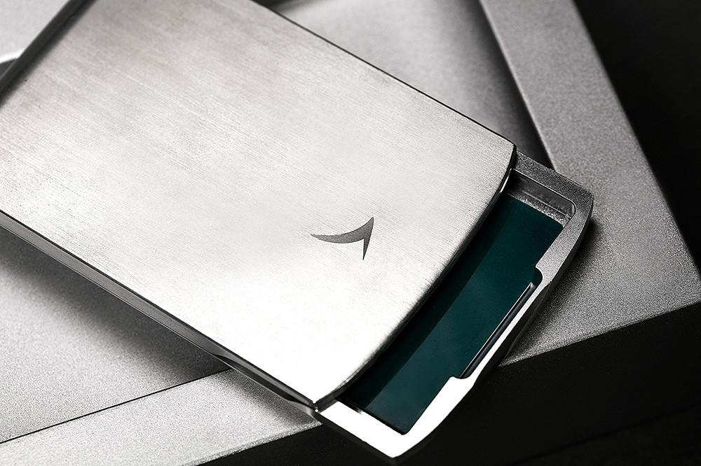 波音747-400-客機回收鋁材金屬筆和卡片盒套裝-7