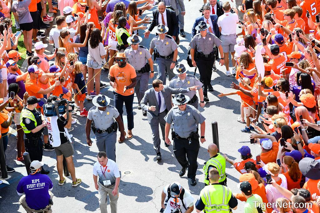 Clemson Photos: Dabo  Swinney, tigerwalk, 2021, Football, S C  State