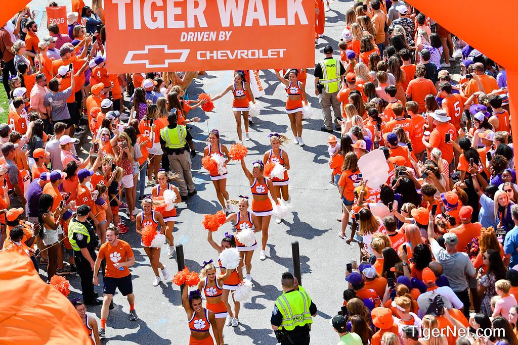Clemson Photos: Cheerleaders, tigerwalk, 2021, Football, S C  State