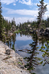 Loch Vale lake in Rocky Mountain National Park Colorado