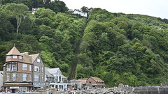 Photo of A View of the Lynton & Lynmouth Cliff Railway taken from the Harbour Wall
