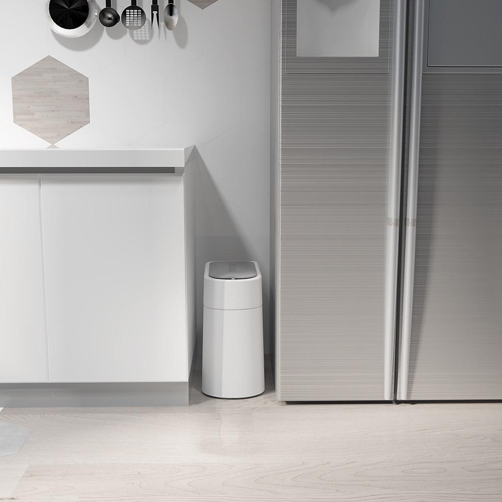 圖說五:拓牛智能垃圾桶針對不同的居家環境,推出長型機身並具有IPX3防水功能的拓牛T3智能垃圾桶。 (2)