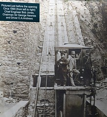 Photo of Early photo of the Lynton & Lynmouth Cliff Railway
