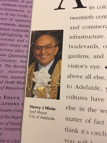 Photo of Henry Ninio, Lord Mayor of Adelaide, from book 'Adelaide South Australia - a State of Achievement'