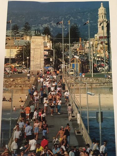 Photo of Glenelg from jetty from book 'Adelaide South Australia - a State of Achievement'