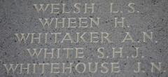 Photo of Name of Flying Officer Arthur Neville Whitaker  (Dambuster) Runnymede Memorial Englefield Green nr Egham Surrey UK