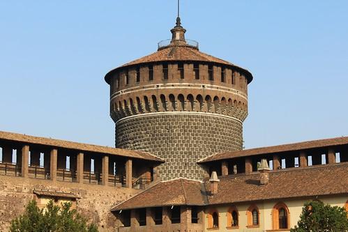 Sforzesco Castle, Milan, Lombardy, Italy