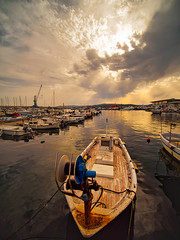Barca de pescador al Moll de Palamós