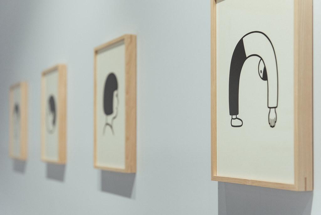 附圖2. 誠品生活expo|「SOME PLACE by Noritake」主題展精選展示9幅絹版印刷原畫、17件經典出版品、絕版品設計,呈現Noritake筆下探頭男孩的經典姿態。