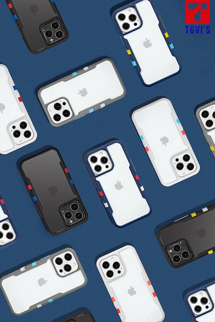 【新聞訊息附圖1】TGVI'S 泰維斯推iPhone13 最新手機保護殼,兼具街頭風格與專利防摔,吹起玩色潮流旋風!