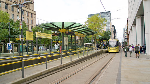 St. Peters Square. Manchester Metrolink.