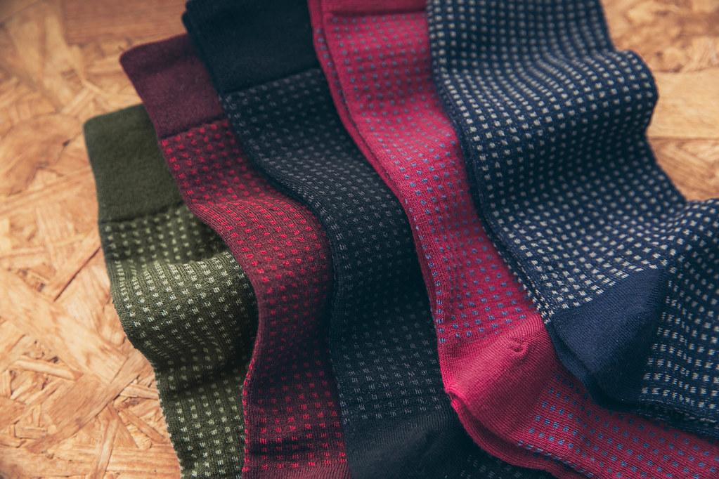 圖3_六、七零年代的記憶延伸  方格紋理紳士襪