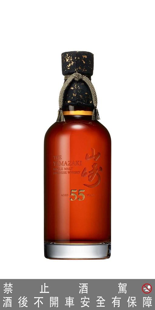 圖說三:山崎55年單一麥芽日本威士忌,尾韻略帶苦味,木質調香氣伴隨一縷煙燻味。