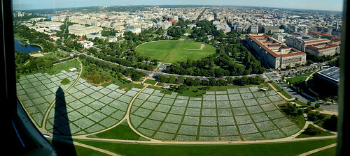 """""""In America: Remember"""" on National Mall viewed from Washington Monument"""