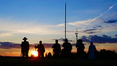 Soldiers at sunset…