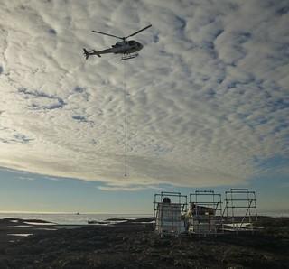 Heli lift at Svalbard by FelixHalpaap UIB Norway by EPOS - European Plate Observing System