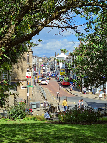 Looking Down Clitheroe High Street