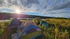 Camping on the North Saskatchewan River