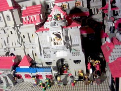 Classic Castle: The War carries on and with it troop transports and lodging of troops medieval city build and minifigure knights (MOC AFOL knight kingdom LEGO vignette)
