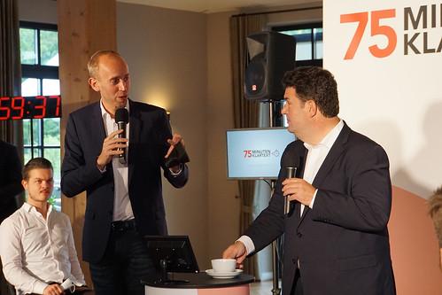 """""""75 Minuten Klartext"""" mit Bundesarbeitsminister Hubertus Heil im Patentkrug in Oldenburg."""