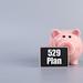 Piggybank with 529 Plan text
