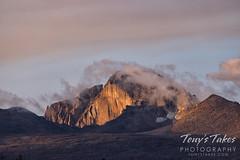 September 19, 2021 - First light on Longs Peak. (Tony's Takes)