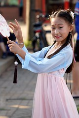 A cute charming Chinese young girl
