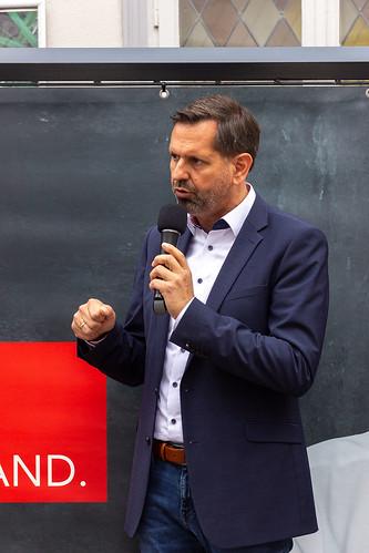Wahlkampfabschluss auf der Innenstadtbühne mit Olaf Lies und Oberbürgermeister Jürgen Krogmann.