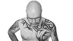 Portraited, Tattooed, Monochrome, Male pose.