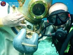 "Kalymnos Traditional Diving Skafandro, Hard helmet • <a style=""font-size:0.8em;"" href=""http://www.flickr.com/photos/150652762@N02/51516149888/"" target=""_blank"">View on Flickr</a>"