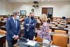 Jesús Postigo, Fernando Gutierrez y María José García Pelayo en la Comisión de Defensa (27/9/21)