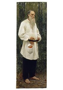 Ilya Repin / portret of Lev Tolstoy