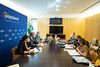 Juan Antonio Callejas, Oscar Clavell y Beatriz Jimenez en la Reunión con el Grupo de Estudio Isabel Rodríguez Domenech (28/9/21)