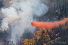 September 28, 2021 - The Ptarmigan Fire burns in Summit County. (Lori Bollendonk)