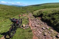 Single track north of Grwyne Fawr Reservoir